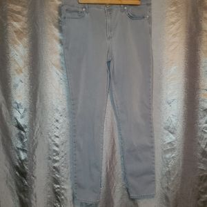 GAP 34r High Rise Skinny Jeans Washed Gray 34r